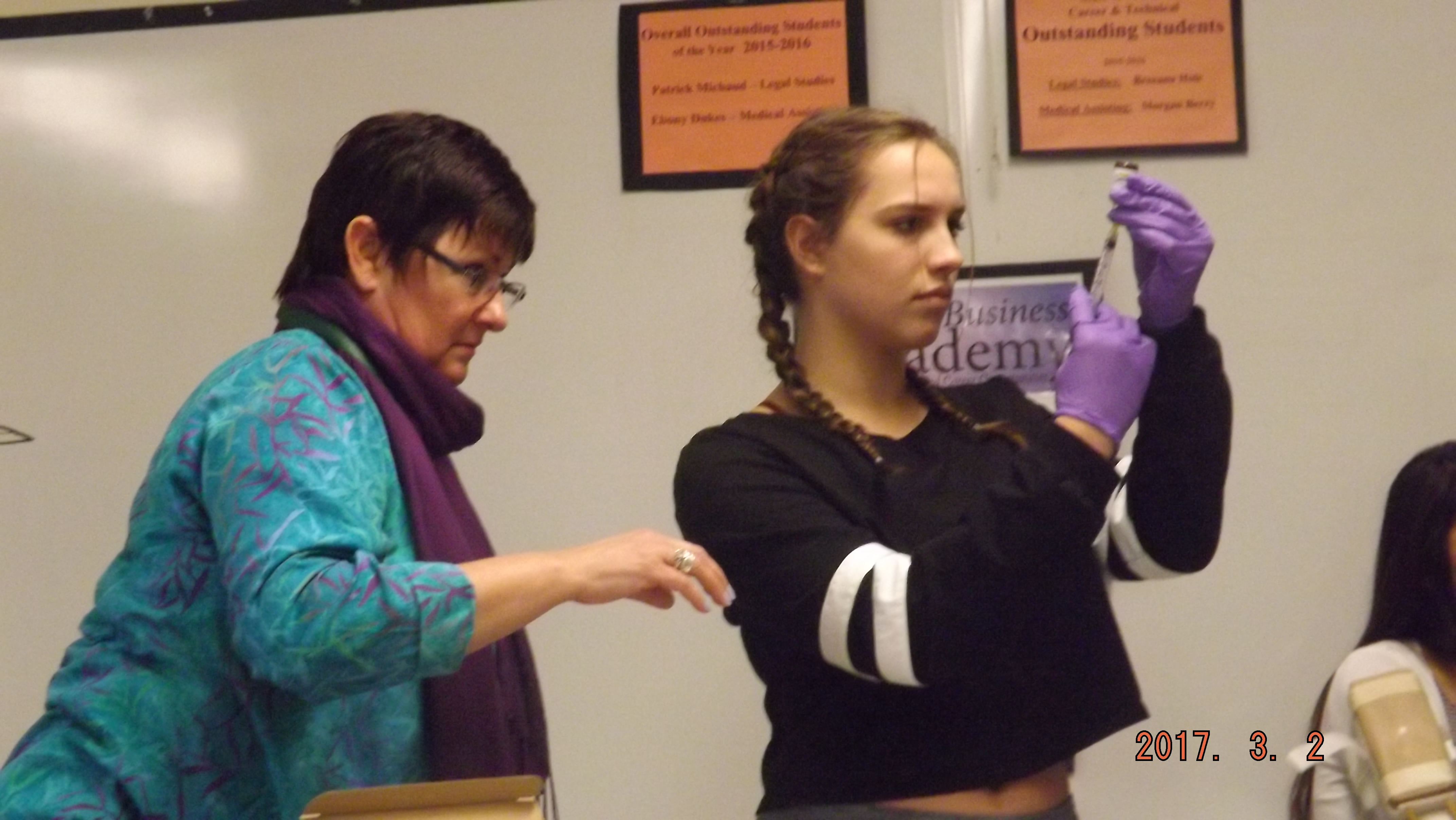 Medical Assisting Students Practice Administering Immunizations