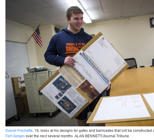 Engineering Student Working On Fort Gorges Project